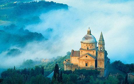 San Biagio below Montepulciano, Tuscany.., province of Siena, Italy