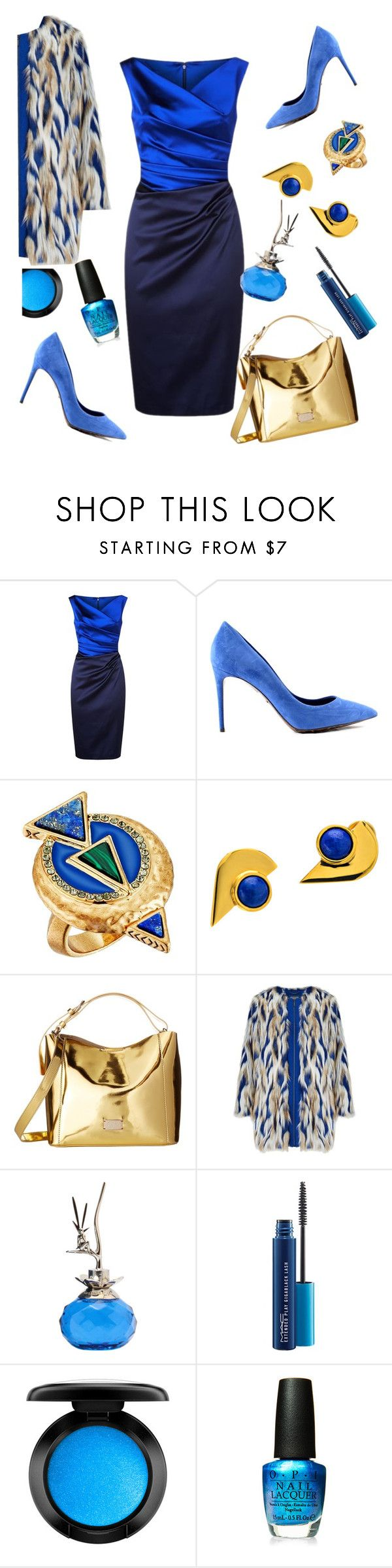 """Untitled #1017"" by lisacom ❤ liked on Polyvore featuring Talbot Runhof, House of Harlow 1960, Golab, Frances Valentine, Van Cleef & Arpels, MAC Cosmetics and OPI"