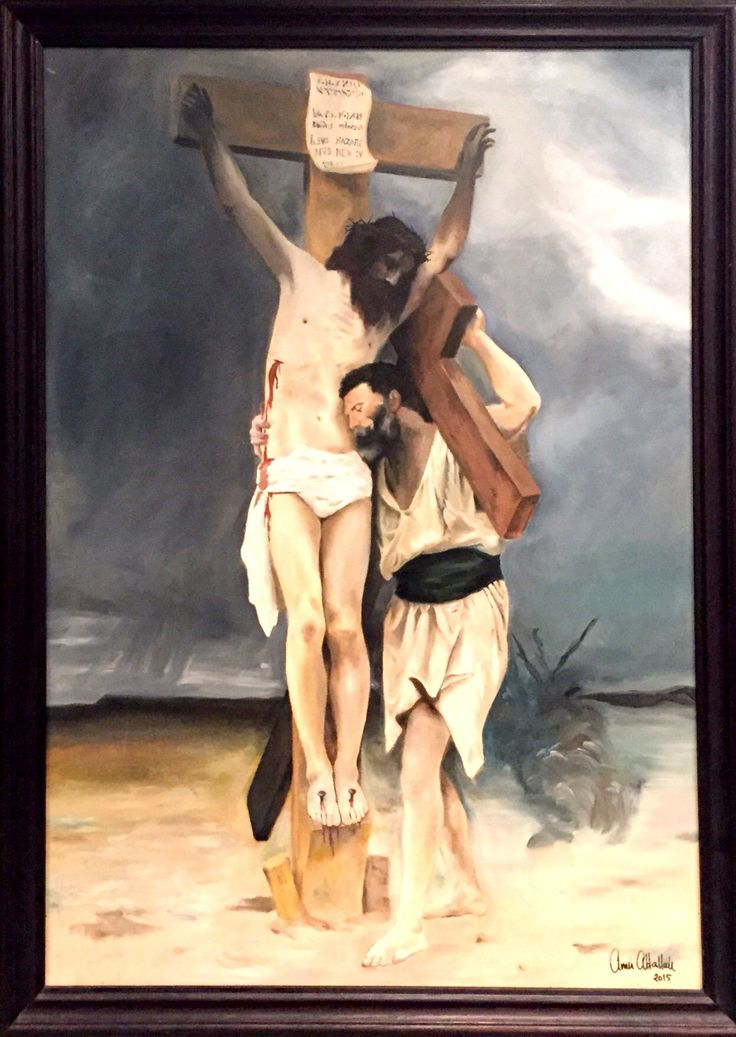 """COMPASSION (STUDY FOR WILLIAM BOUGAREAU)  By Amir Attallah  In Paintings, Oil on wood Size: 1000(L) X 700(W)  Price 1500 CHF  Inspiration: Verse: Mathew 16:24 """"Then said Jesus unto his disciples, If any man will come after me, let him deny himself, and take up his cross, and follow me""""  See it here: http://www.c-glory.ch/artwork.html #CGlory #Compassion #Artwork"""