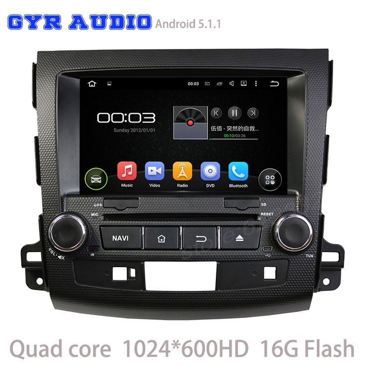 Quad core 1024*600 screen android 5.1 Car dvd GPS for Mitsubishi outlander 2006-2012 with GPS WIFI 3G usb auto radio bluetooth