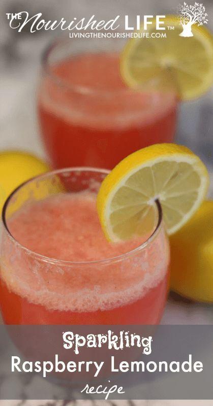 Sparkling Raspberry Lemonade Recipe (perfect for Valentine's day!)