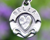 Dog Tag Custom Pet Tags Personalized Heart  Banner