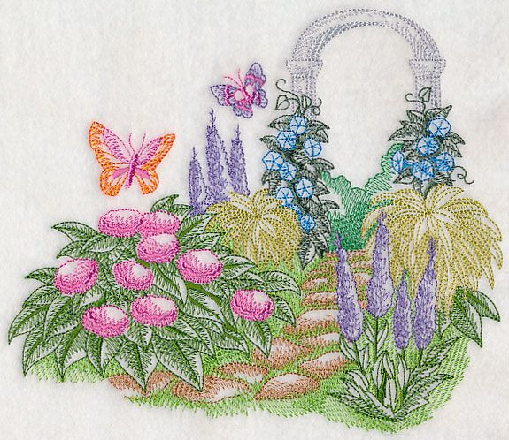 Garden Embroidery Designs vegetable garden scene Machine Embroidery Designs At Embroidery Library