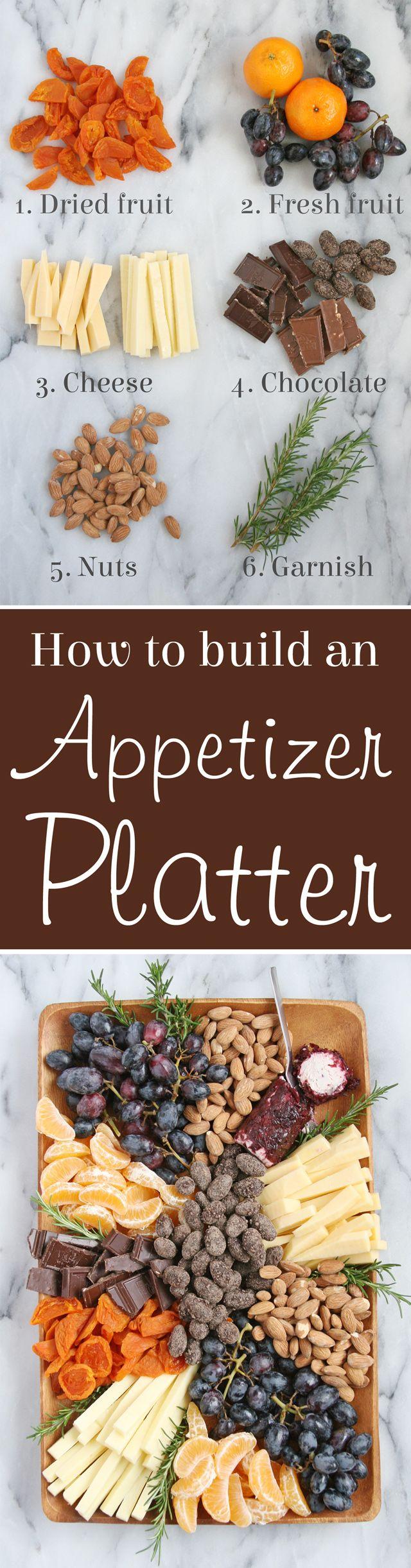 How to build a Gourmet Appetizer Platter!