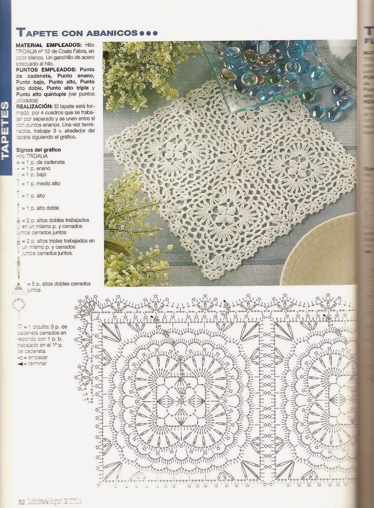 353 best camino de mesa crochet table runner images on for Ideas creativas para el hogar