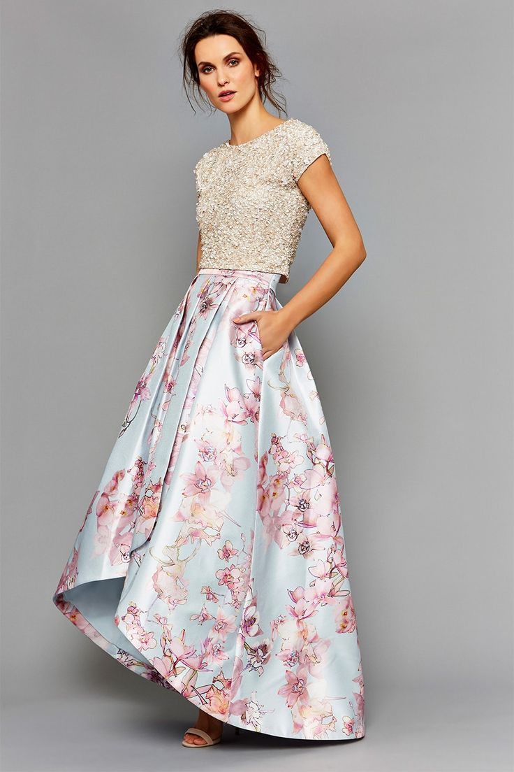 How about this Tulleries printed skirt and Felicity embellished top, both Coast?