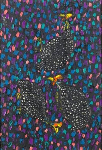 Walter Battiss (1906 - 1982) | Post-Impressionism | Guinea fowl