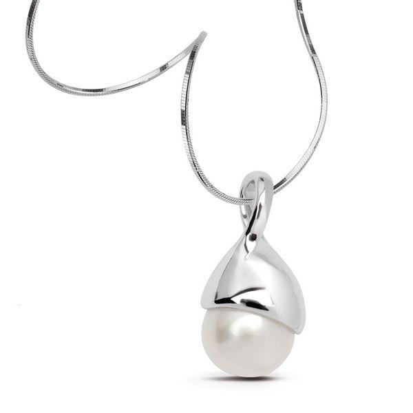 Srebrny wisiorek z piękną perłą - Biżuteria srebrna dla każdego tania w sklepie internetowym Silvea