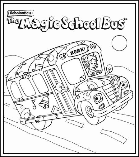 magic school bus coloring pages