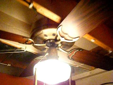 Ceiling Fan Display In My Garage - The Old Setup - YouTube