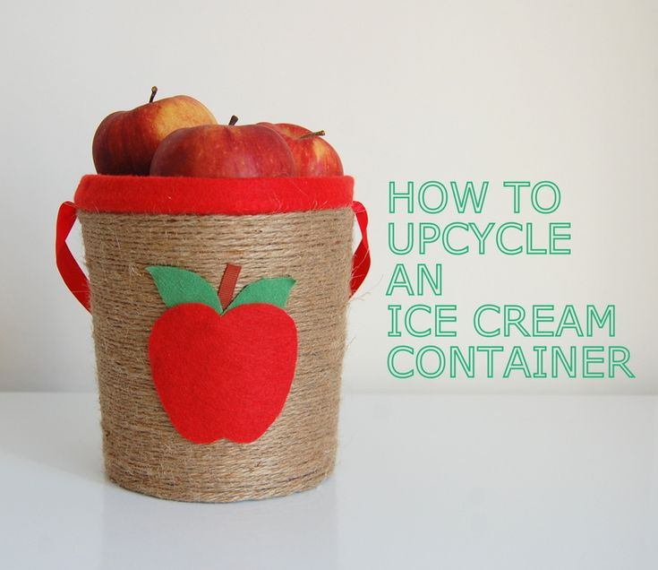 Upcycle an Ice Cream Container