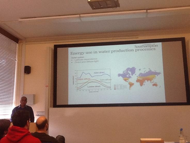 'Energy and Water: Energy for Development', By Professor AbuBakr Bahaj