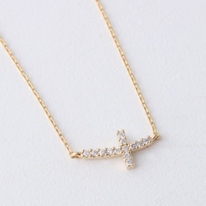 Sideways Cross Necklace Gold at Kellinsilver – tiny sideways cross necklace, silver sideways cross necklace, gold cross jewelry