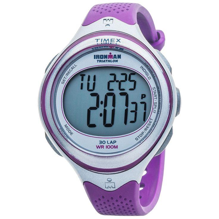 Timex Ironman 30-Lap Digital Sport Watch (For Women) in Grey/Purple