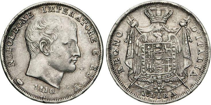 "NumisBids: Numismatica Varesi s.a.s. Auction 65, Lot 735 : NAPOLEONE I, Imperatore (1804-1814) Lira 1810 Milano ""II° tipo"". ..."