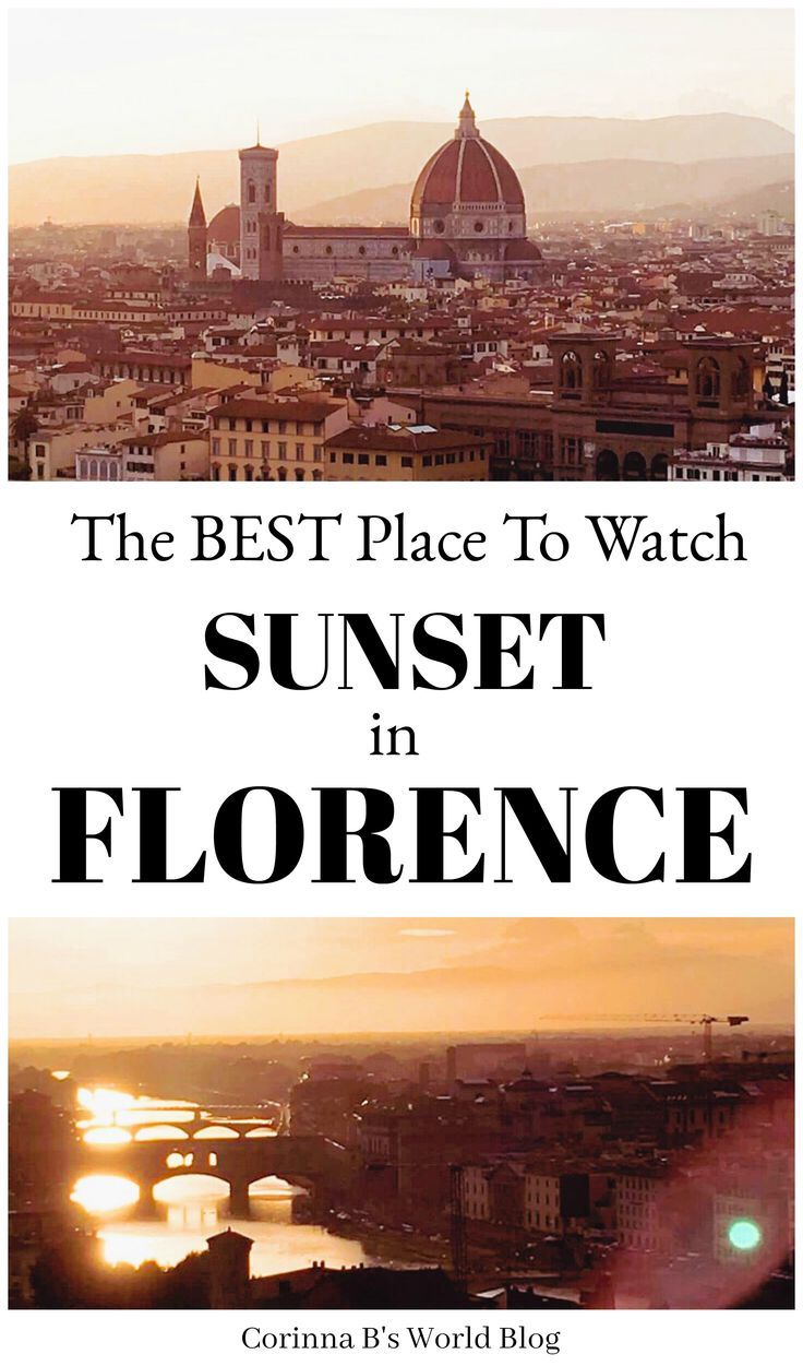 How To Find The Best Sunset Spot In Florence. Sunsets in Florence are beautiful. If you want to find the best spot to get a wonderful panoramic photo of this gorgeous city, as well as watch sunset, I have all the details for you! Where to go, how to get there (it's easy, not far from Ponte Vecchio) and the lovely things you will see along the way. #Florence #Italytraveltips