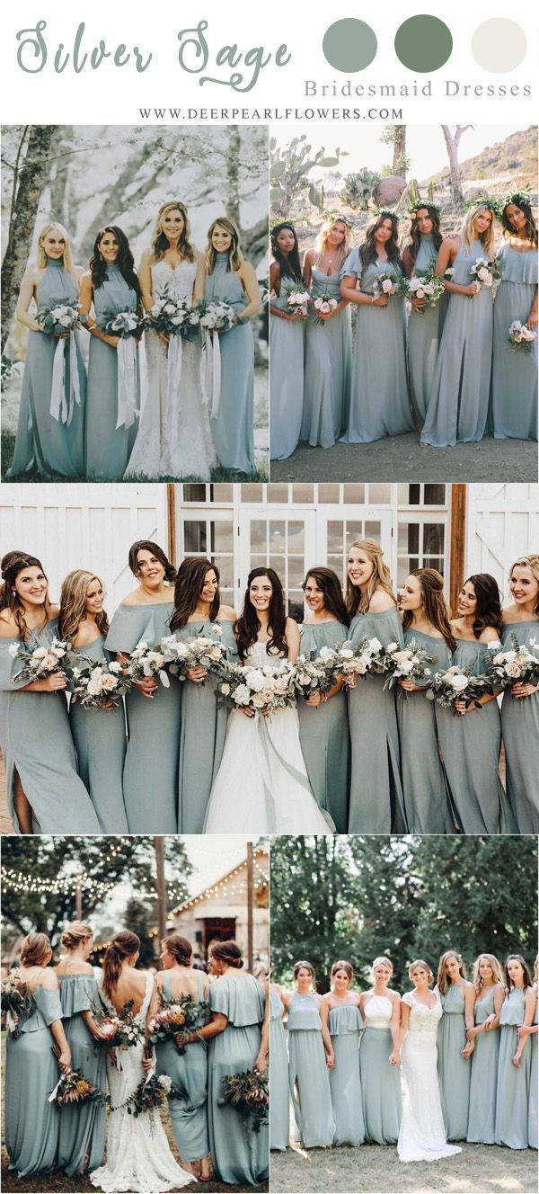 30 Silver Sage Green Wedding Color Ideas for 2019