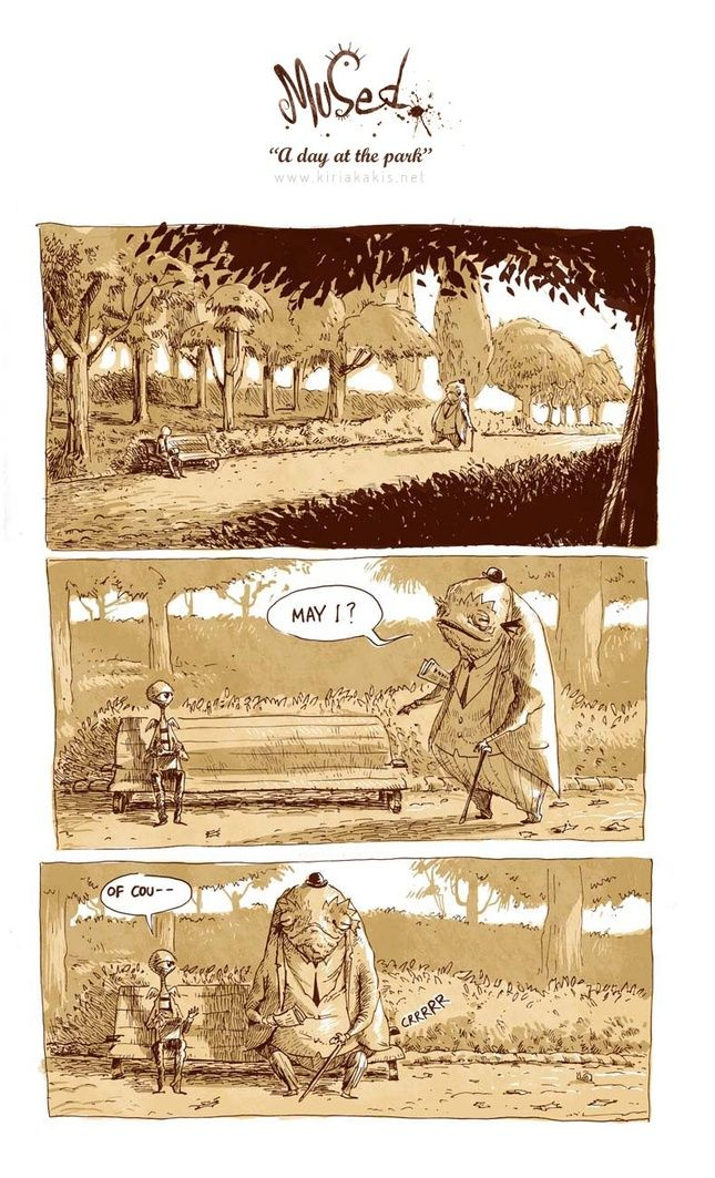 A Day at the Park - Comics that say something. - Quora