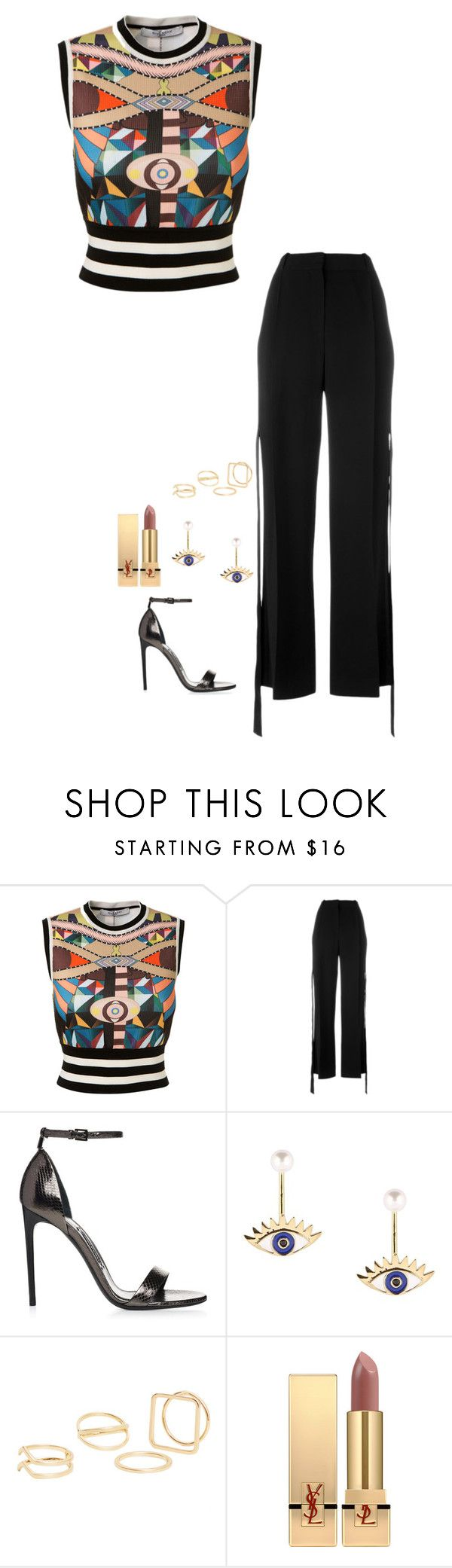 """""""Untitled #940"""" by h1234l on Polyvore featuring Givenchy, MANGO and Yves Saint Laurent"""