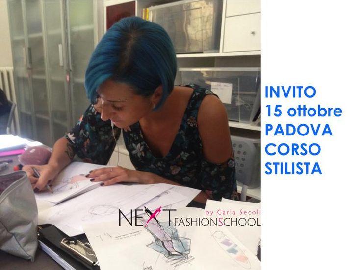 Invito 15 ottobre Padova | Next Fashion School -Scuola di Moda che prepara stilisti, modellisti e professionisti del Fashion System