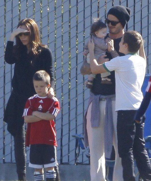 Victoria Beckham Baby Shower Part - 43: Victoria And David Beckham / Children Brooklyn, Romeo, Cruz And Harper