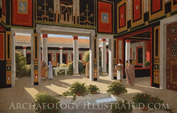 Pompeii, House of the Vettii. 1st Century AD Illustrations by Balage Balogh/www.Archaeologyillustrated.com