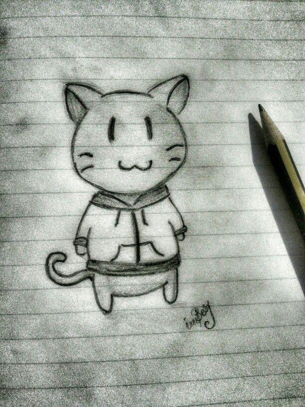 #meow #kitty #draw #pencil #by #imBesy