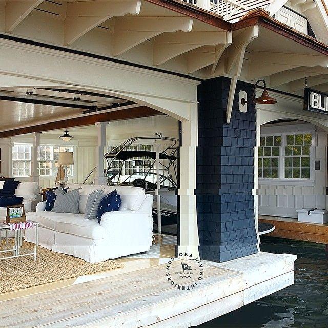 Muskoka living interiors great outdoors in muskoka boathouse