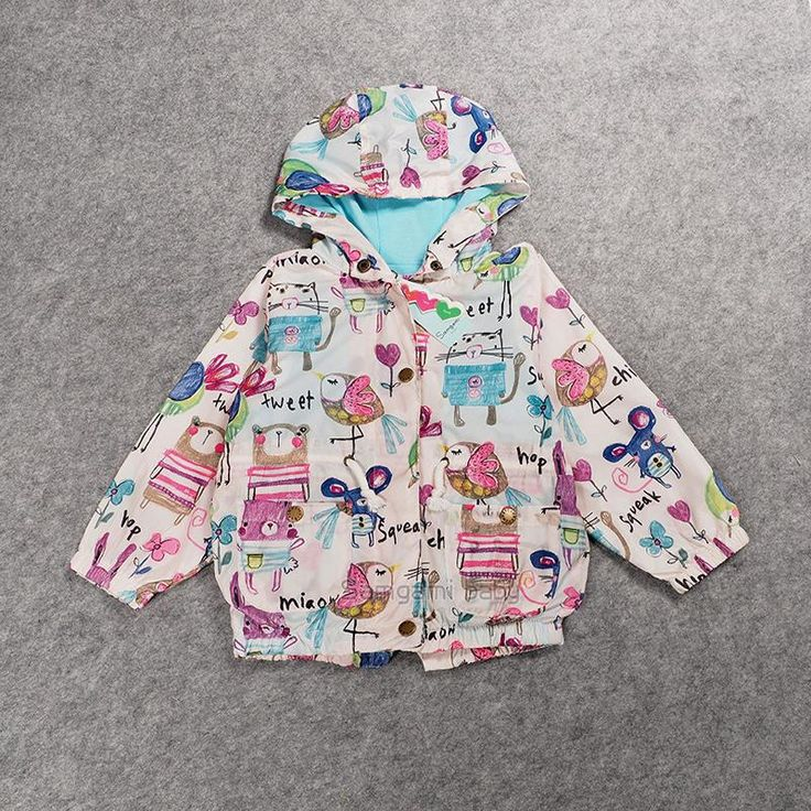 US $19.53 Brand Girls Outerwear Cartoon Rabbit Girls Jacket Hooded Coat Windproof Zipper 2016 Autumn Girls Clothes Children Garment aliexpress.com