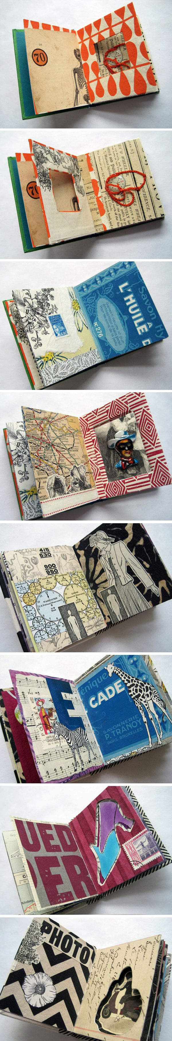 Book Art + Collage project by Trish Leavitt