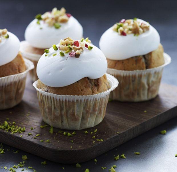 Mette Blomsterberg valnødde-cupcakes