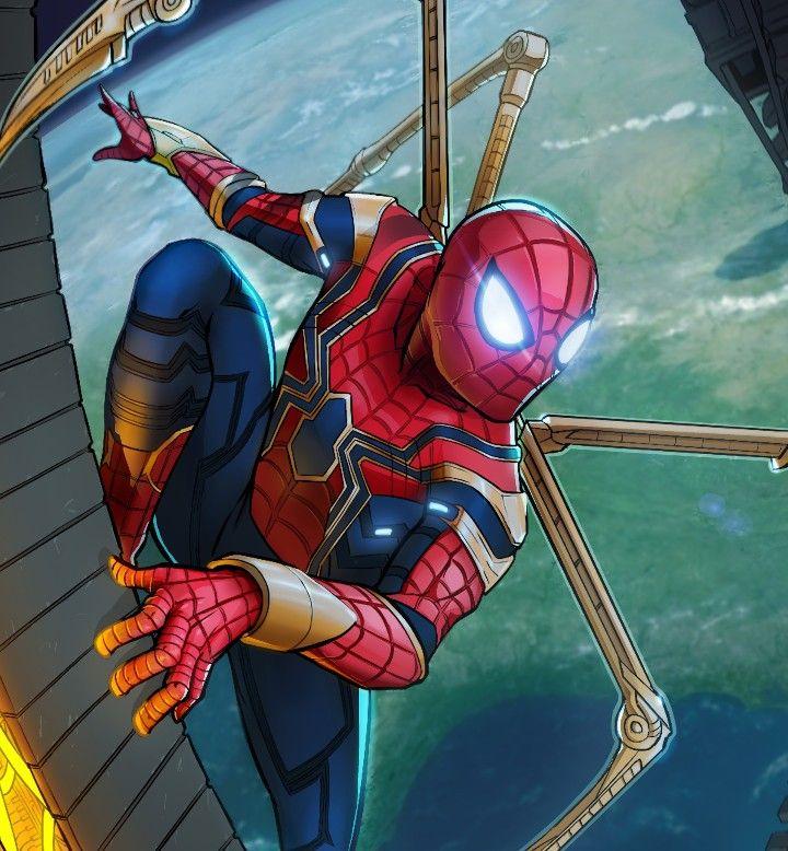 Картинка человек паук железный