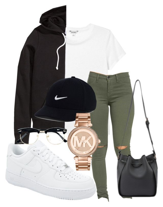 """IG - kingrabia"" by rabiamiah on Polyvore featuring Monki, NIKE, H&M, Michael Kors and Topman"