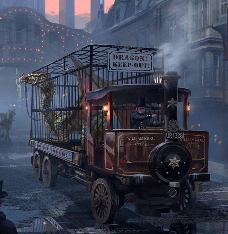 Steampunk Tendencies | Beware of Dragon (detail) ~ Rowena Wang http://www.steampunktendencies.com/post/83434829116/