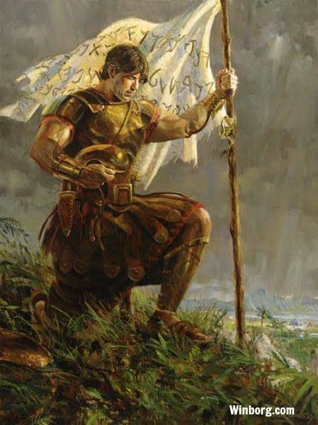 Captain Moroni reminds me of my sweet little boy. He's strong and Valiant! I can't wait to see him again!
