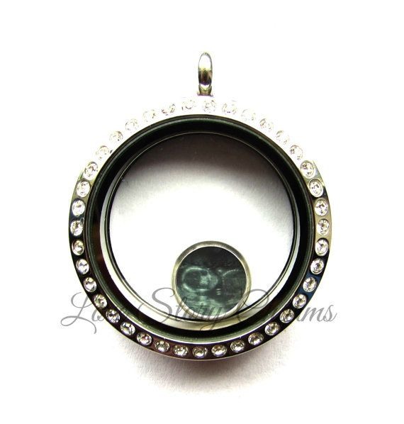 Personlaized Ultrasound Picture Floating Charm by LoveStoryCharms