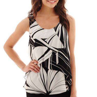 Worthington® Sleeveless Tiered Top  found at @JCPenney