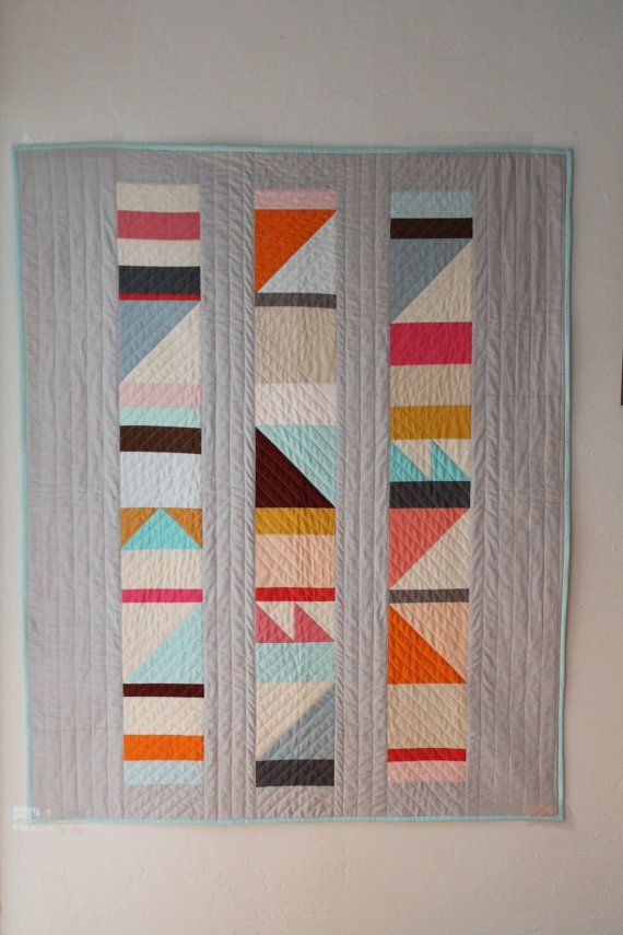 17 Best ideas about Geometric Quilt on Pinterest Modern quilt patterns, Patchwork and Triangle ...