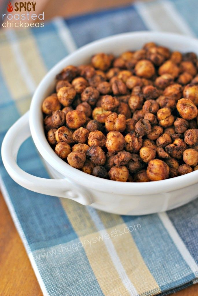 Spicy Roasted Chickpeas - Shugary Sweets