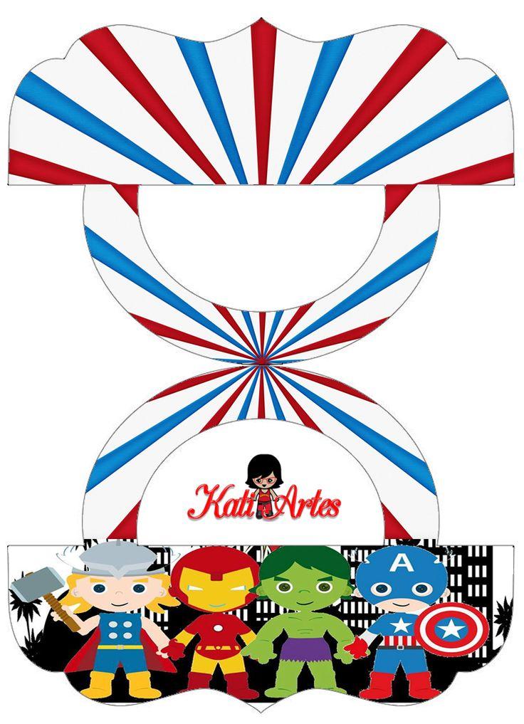 Super Héroes: Etiquetas para Bolsas de Golosinas para Imprimir Gratis. PLASTIC BAG TOPPERS