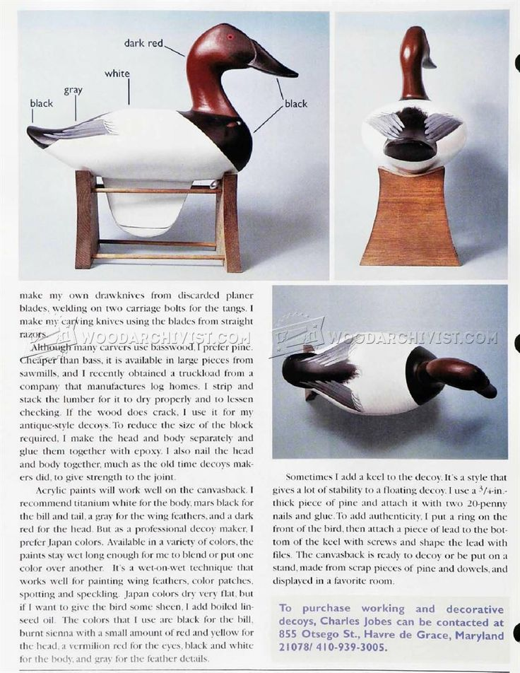 #1808 Carving Duck Decoys - Wood Carving Patterns and Techniques