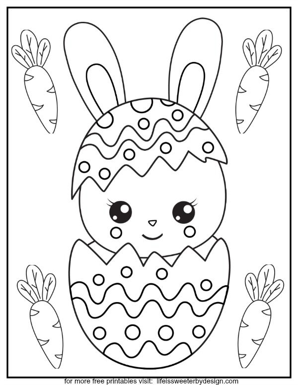 These Free Printable Easter Color Pages Are The Perfect Kids Activity For A Rainy Spri Bunny Coloring Pages Easter Coloring Pictures Free Easter Coloring Pages