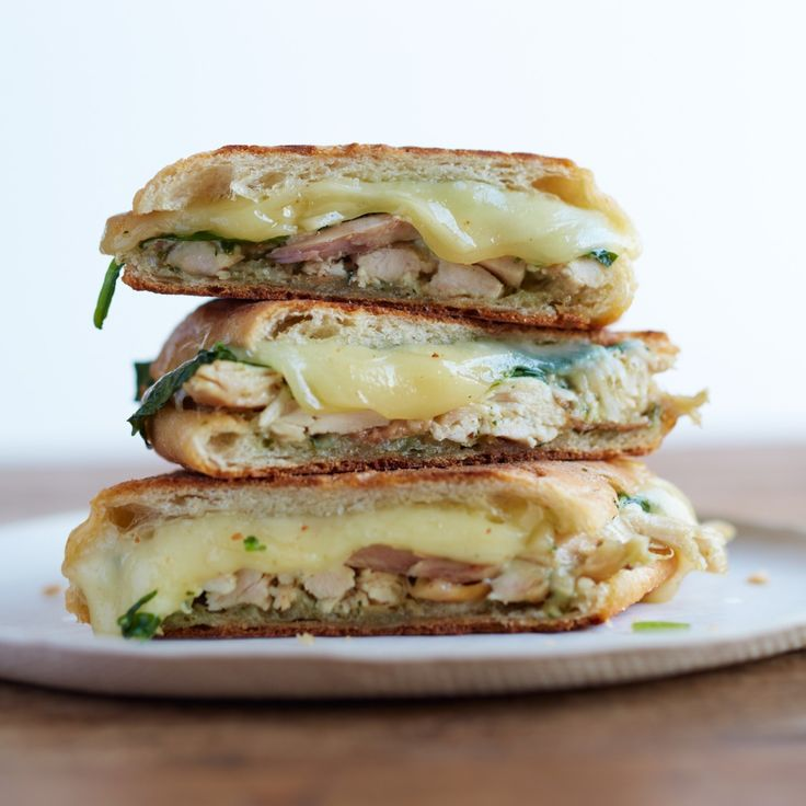 This is a fun marriage of a chicken salad sandwich and a crunchy pressed panino.