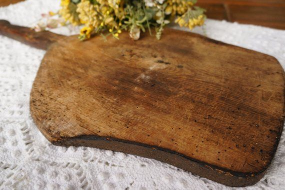 Rustic Wooden Cutting Board Large French Bread Board Antique Wood