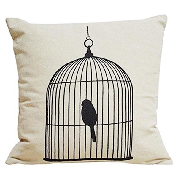 Birdcage Pillow Cover