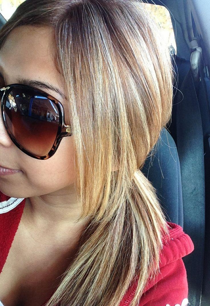 caramel hair with blonde highlights | hair | Pinterest