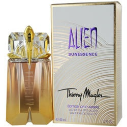 Special Edition D'Ambre Light Alien Sunessence by Thierry Mugler on sale for $45.98. This is the 2.0 oz Eau de Toilette Spray Limited Edition perfume for women that was released in 2010 and very hard to find now except at Perfume.com. Dominique Ropion was inspired to make this perfume based on a trio of wealth: the wealth of vitamins, the wealth of the exotic, and the enchanting wealth of warmth.