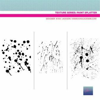 Salpicaduras de pintura negro de vectores