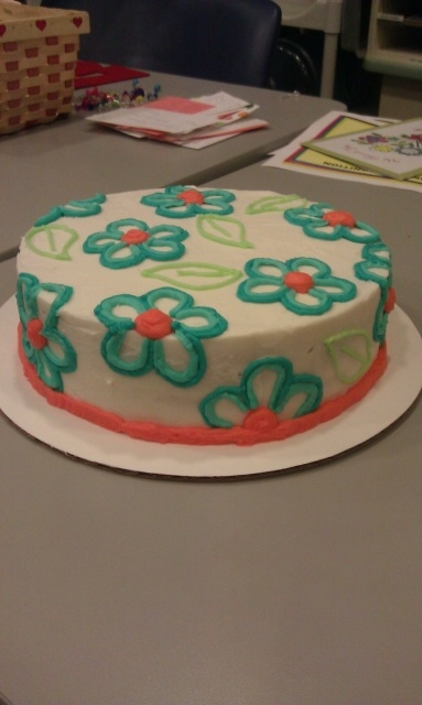 Michaels Cake Decorating Class Sterling Va : My Wilton Course 1 - Final cake. I took the Wilton courses ...