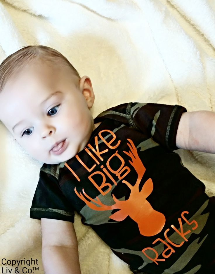 I Like Big Racks™ Boys Camouflage Hunting Bodysuit and T Shirt, Funny Boy Clothes, Baby Boy Outfit, Gift, Apparel, Deer Rack, Liv & Co.™ by LivAndCompany on Etsy